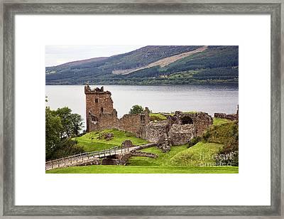 Urquhart Castle I Framed Print by Chuck Kuhn