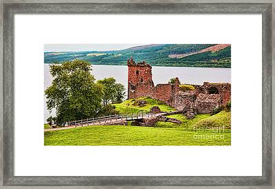 Urquhart  Castle Scotland Framed Print