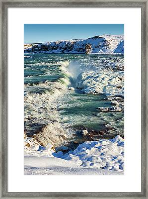 Framed Print featuring the photograph Urridafoss Waterfall Iceland by Matthias Hauser