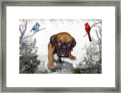 Ursula Uma And The Underdog Framed Print by Julie L Hoddinott