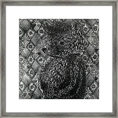 Ursus Arctos Ssp Domesticus Framed Print by Bella Larsson