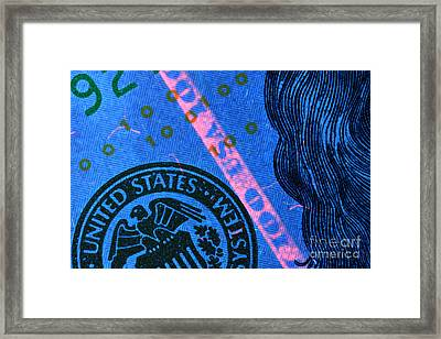 Us 100 Dollar Bill Security Features, 2 Framed Print by Ted Kinsman