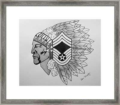 Air Force Chief Master Sergeant Framed Print by Omari Slaughter