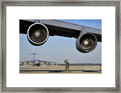 U.s. Air Force Crew Chief Performs Framed Print