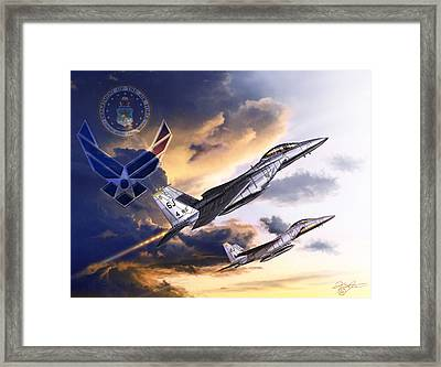 Us Air Force Framed Print by Kurt Miller