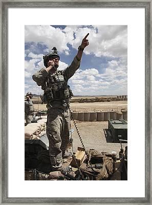 U.s. Air Force Member Calls For Air Framed Print by Stocktrek Images