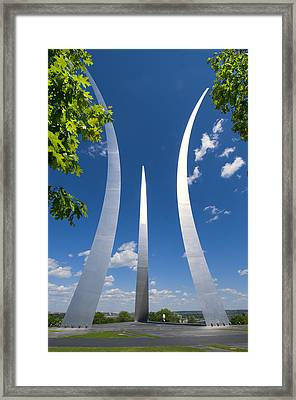 Framed Print featuring the photograph U.s. Air Force Memorial by Jim Moore
