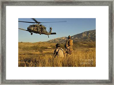 U.s. Air Force Pararescuemen Signal Framed Print by Stocktrek Images
