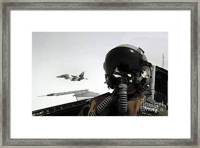 U.s. Air Force Pilot Takes Framed Print by Stocktrek Images
