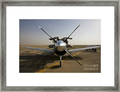 U.s. Air Force Pilots Run Pre-flight Framed Print by Terry Moore