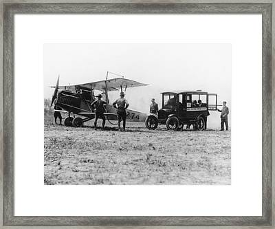 U.s. Air Mail, C1918 Framed Print by Granger