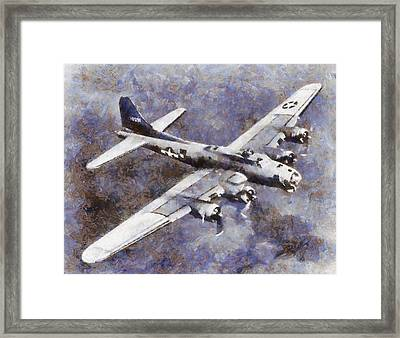Us Airforce B-17 Bomber Wwii Framed Print by Esoterica Art Agency