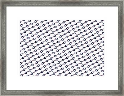 Us Airforce Style Insignia Pattern Diag Version Framed Print