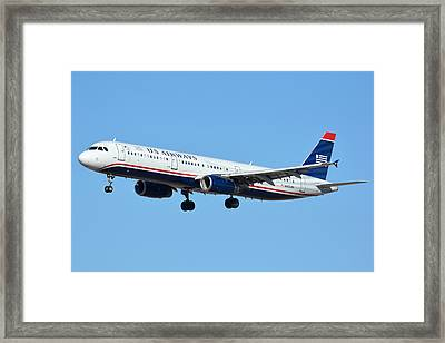 Us Airways Airbus A321-231 N567uw Framed Print by Brian Lockett