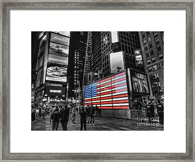 U.s. Armed Forces Times Square Recruiting Station Framed Print by Jeff Breiman