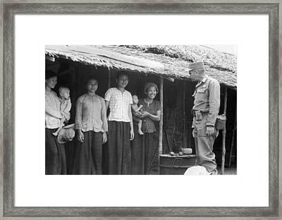 U.s. Army Advisors In Vietnam Framed Print
