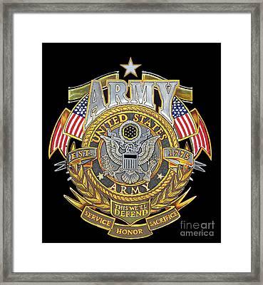 Us Army Framed Print by Bill Richards