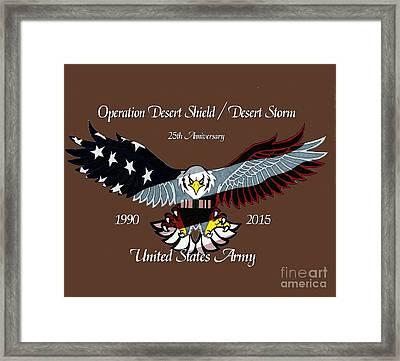 Us Army Desert Storm Framed Print by Bill Richards
