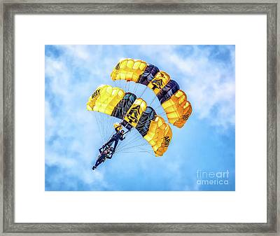 Framed Print featuring the photograph U.s. Army Golden Knights by Nick Zelinsky