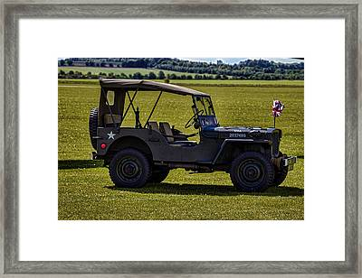 Us Army Jeep Framed Print by Martin Newman