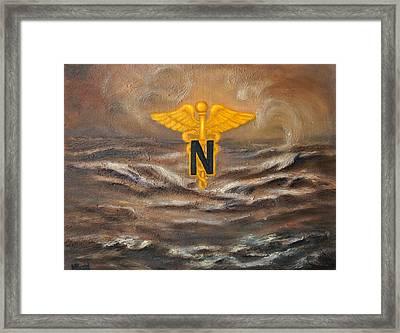 U.s. Army Nurse Corps Desert Storm Framed Print