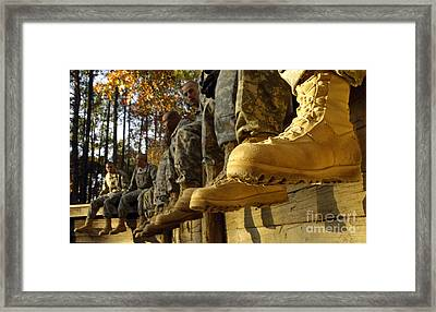 U.s. Army Soldiers Prepare For Basic Framed Print by Stocktrek Images