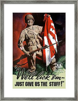 Us Army -- World War Two Propaganda Framed Print by War Is Hell Store