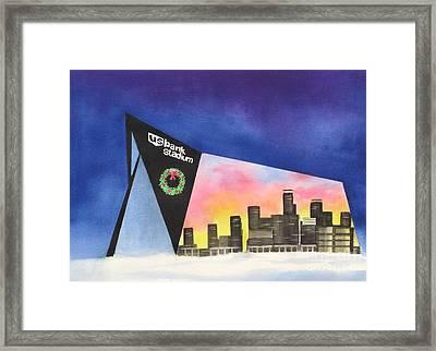 Us Bank Stadium Framed Print by Deborah Ronglien