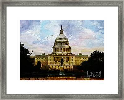 Capitol Building, Washington, D.c 007 Framed Print by Gull G