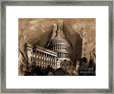 Capitol Building, Washington, D.c-001 Framed Print by Gull G