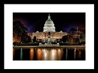 Capitol Building Photographs Framed Prints