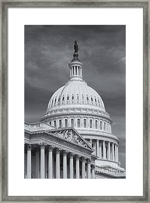 Us Capitol Building Iv Framed Print by Clarence Holmes