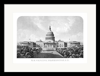 Us Capital Mixed Media Framed Prints