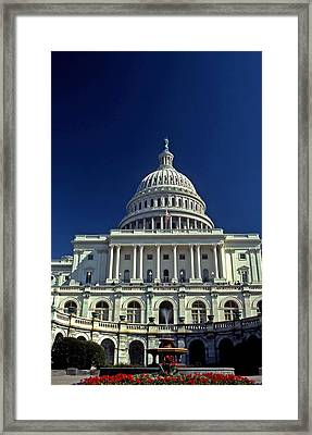 Us Capitol In The Spring Framed Print