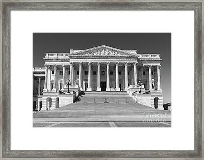 Us Capitol North Wing Iv Framed Print