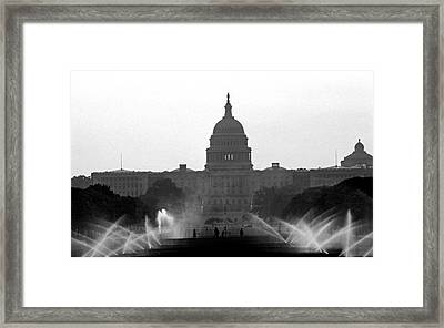 Us Capitol On Summer Morning Framed Print