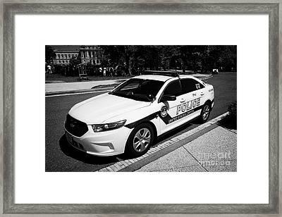 us capitol police car Washington DC USA Framed Print