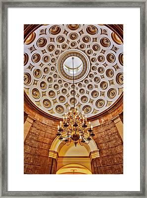 Framed Print featuring the photograph Us Capitol Rotunda Washington Dc by Susan Candelario