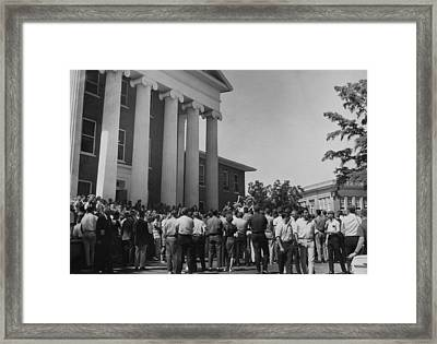 Us Civil Rights. A Crowd Of Students Framed Print