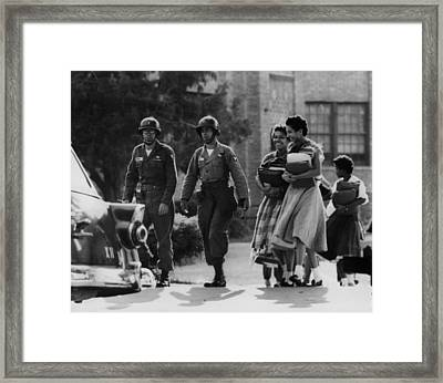 Us Civil Rights. Paratroopers Framed Print