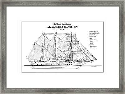 U.s. Coast Guard Cutter Alexander Hamilton Framed Print
