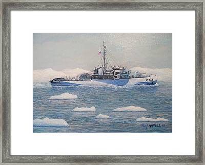 U.s. Coast Guard Cutter Eastwind Framed Print by William H RaVell III