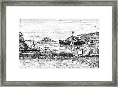 Us Coast Guard Cutter On Little Harbor Framed Print