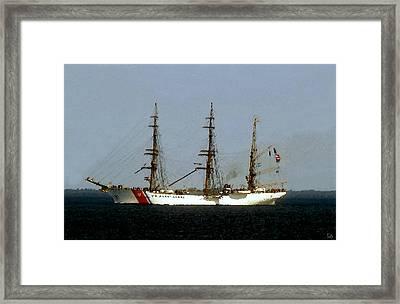 U.s. Coast Guard Eagle Framed Print