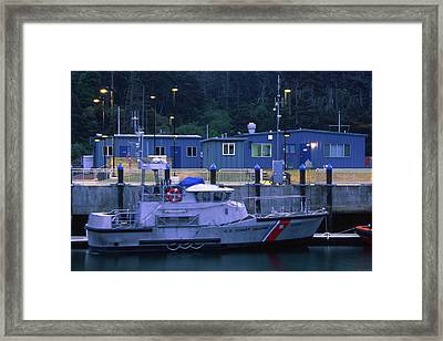 U.s. Coast Guard - Fort Bragg California Framed Print by Soli Deo Gloria Wilderness And Wildlife Photography