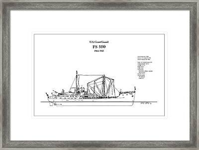 U.s. Coast Guard Fs 550 Framed Print by Jose Elias - Sofia Pereira