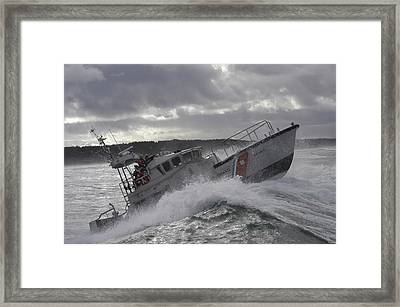 U.s. Coast Guard Motor Life Boat Brakes Framed Print by Stocktrek Images