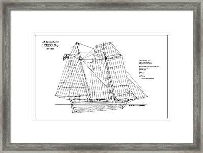 U.s. Coast Guard Revenue Cutter Louisiana Framed Print by Jose Elias - Sofia Pereira