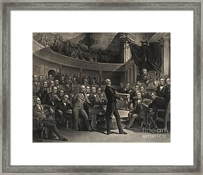 Us Congress Framed Print by Celestial Images