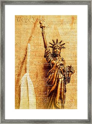 Us Constitution Framed Print
